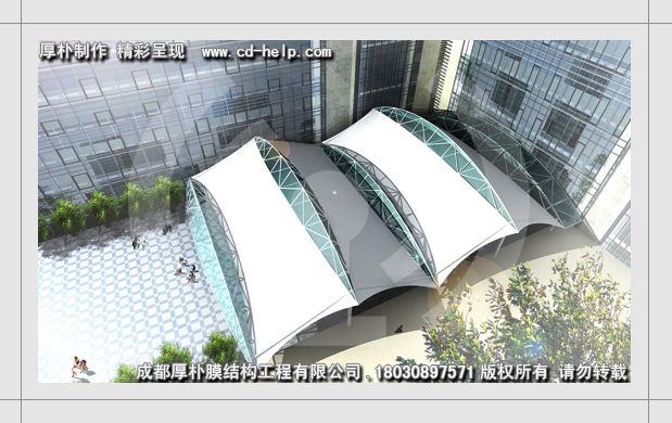 设计图展示 成都厚朴膜结构工程有限公司 18030897571 广场